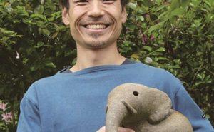 宇一郎先生に教えてもらう、(ちょっと大きな)かわいい動物グリーンポットつくり
